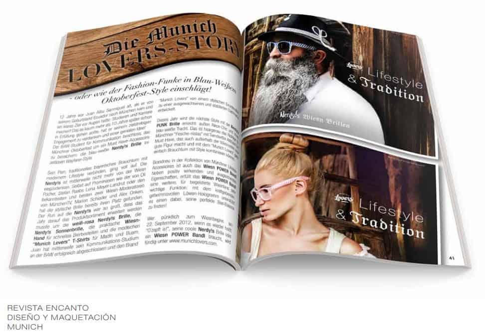 Diseño interior de revista