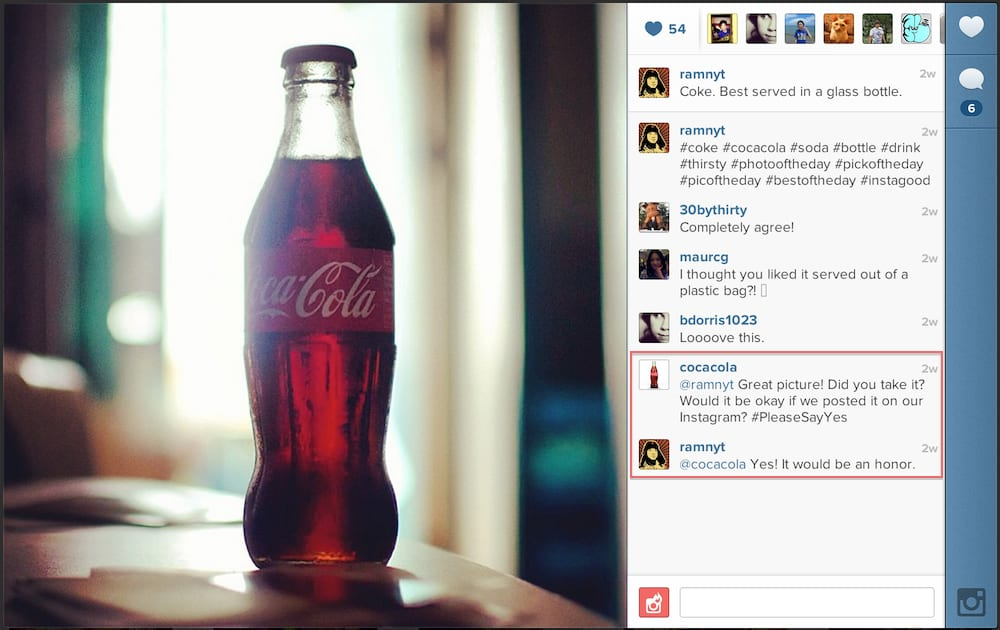 CocaCola instagram